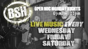 Bradshaw Social House Live Music Schedule