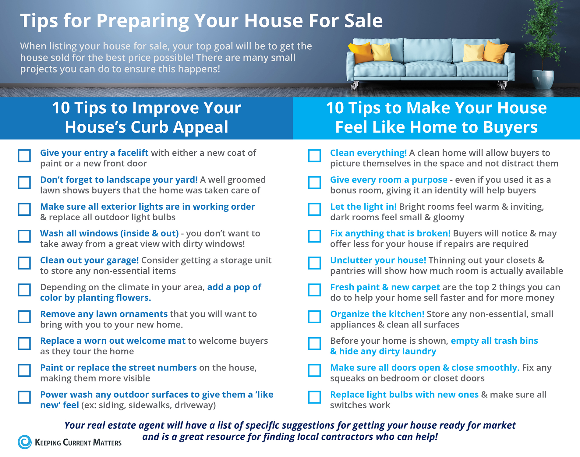 ztips for Preparing your home for sale