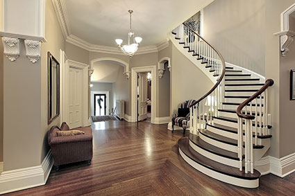 Off White Foyer Wall Color - Lisa Birdsong