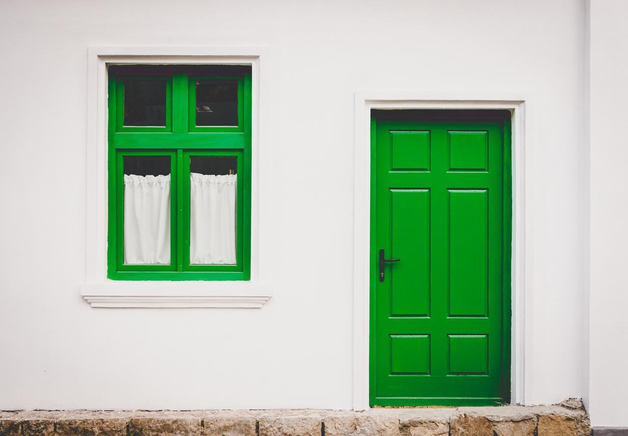 Painted Green Front Door
