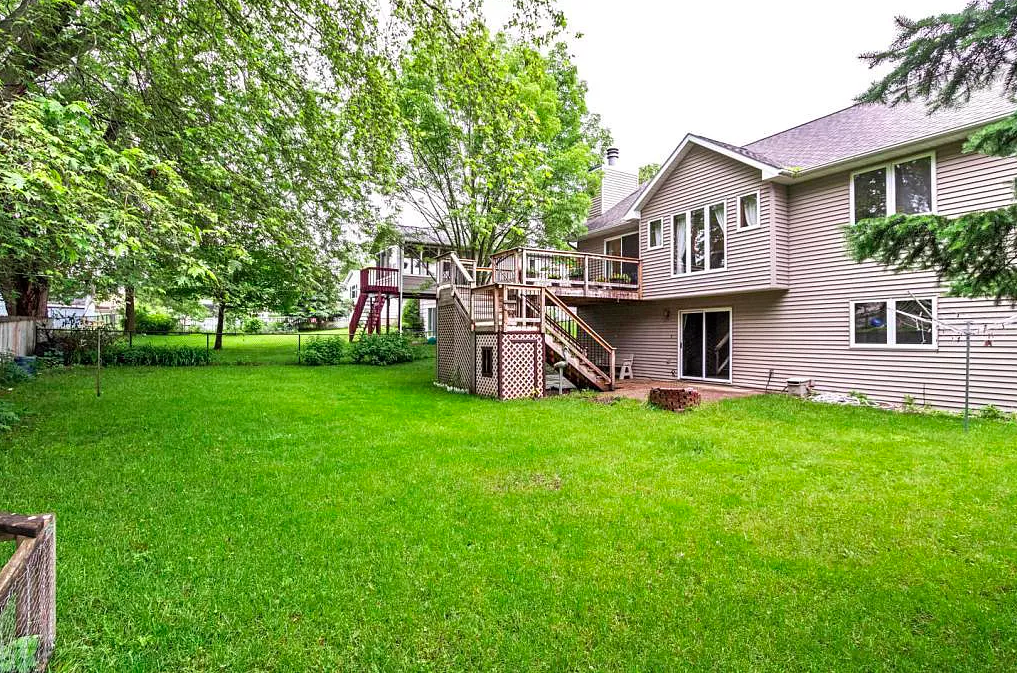 Backyard of home for sale, 4512 4th Street NW, Rochester MN 55901