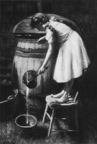 Harry Herman Roseland. The old rain barrel