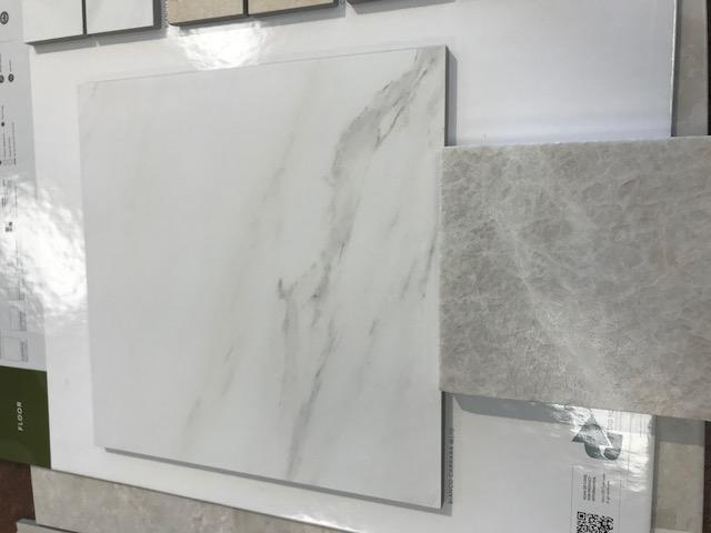 Shower tile with sample of Bathroom slab