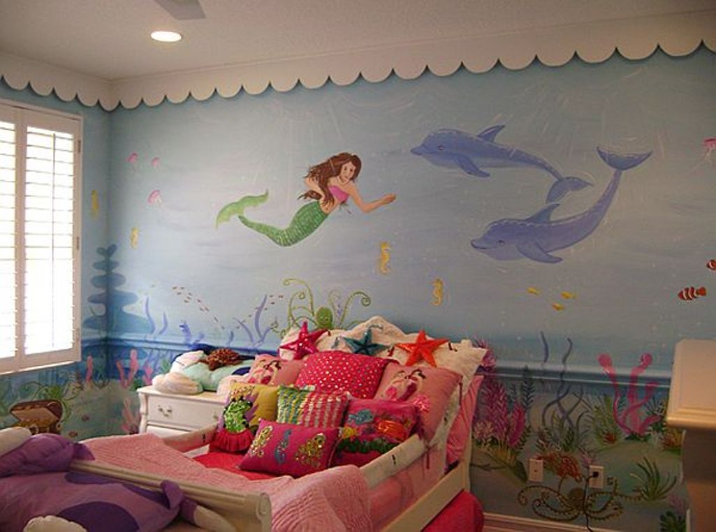 Mermaid Dolphin Mural - Lisa Birdsong