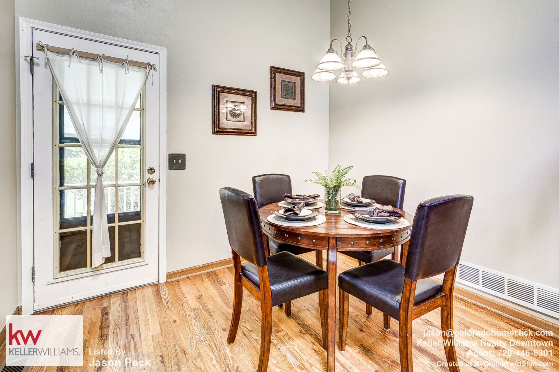 Dining Room with Wood Floors