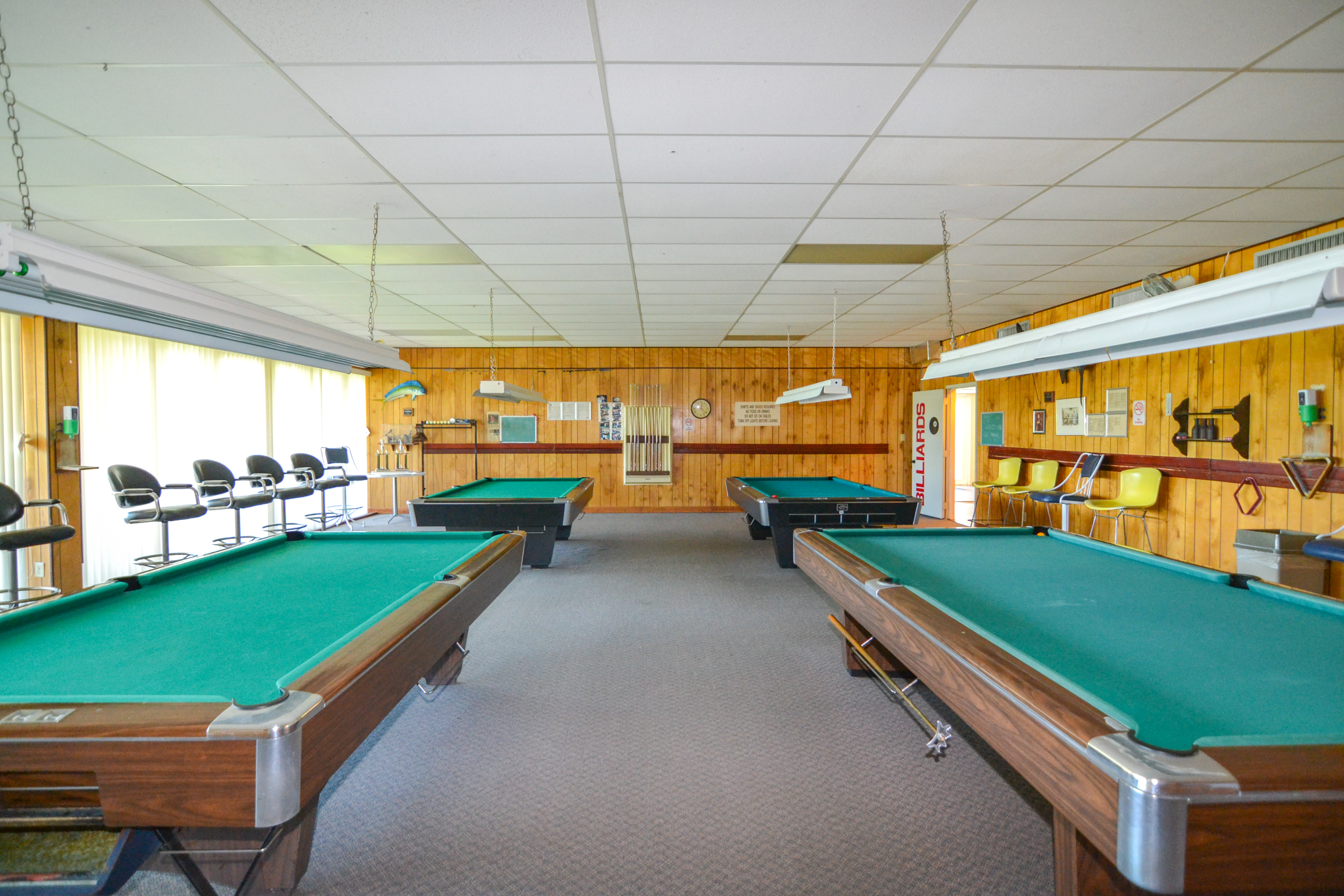 Billiards Room at Bay Island