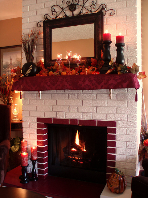 Decorate Your Fireplace For Fall