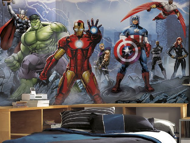 Creative wall designs for kids rooms for Avengers wall mural amazon