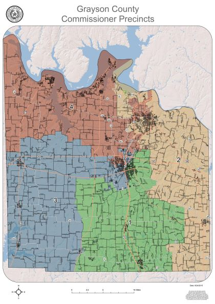 Precinct map for Grayson County Texas