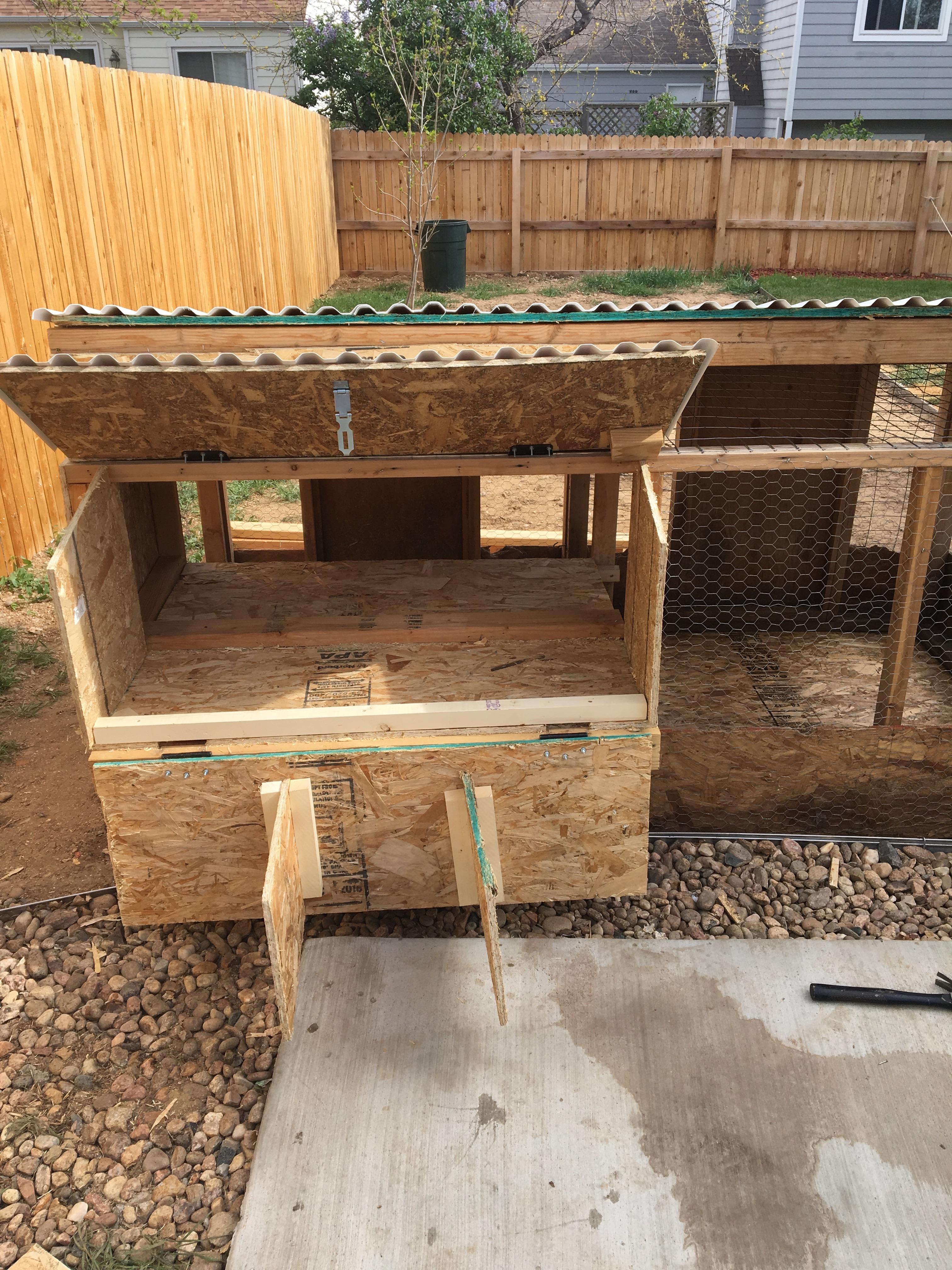 Nesting box installed
