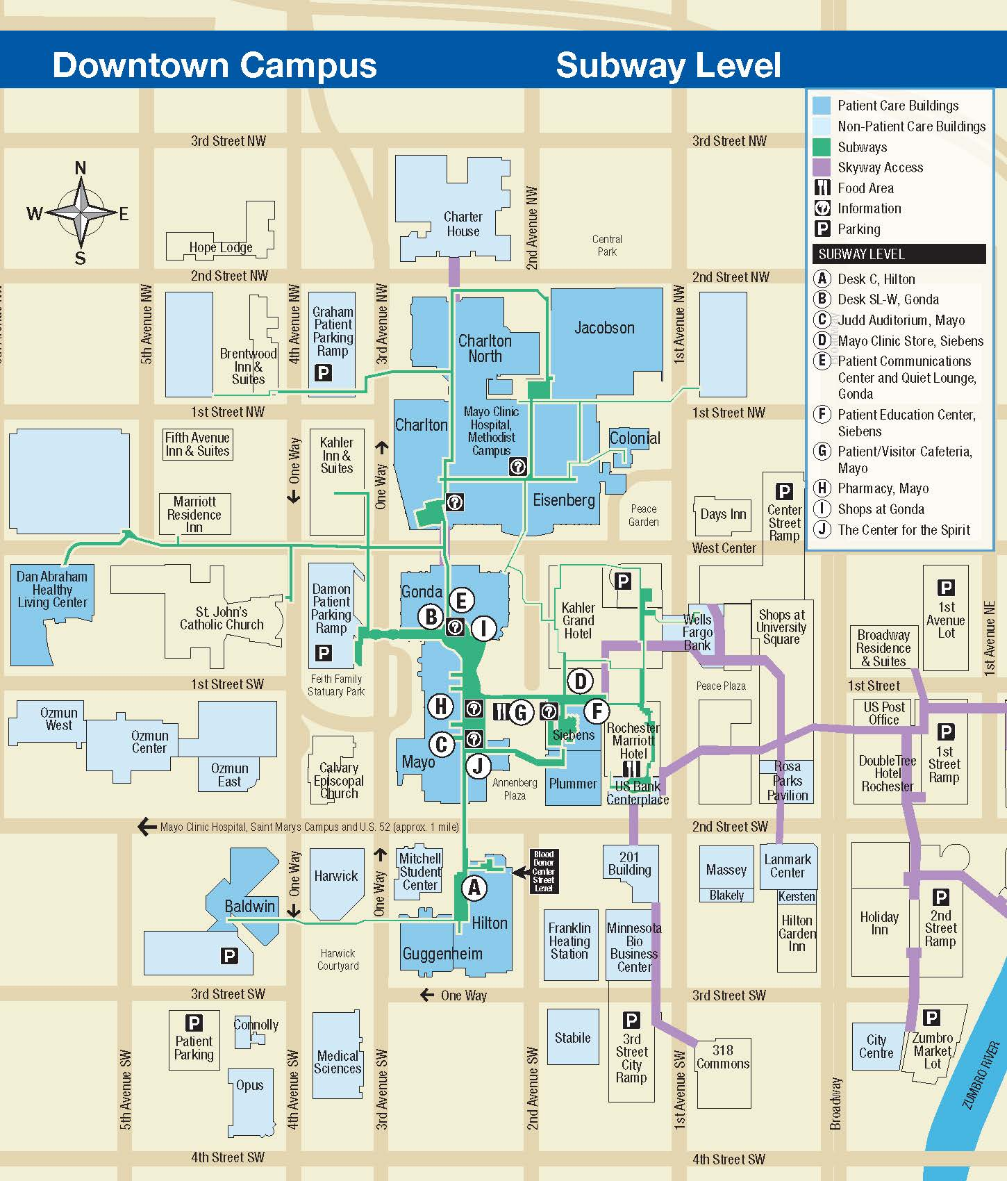Mayo Clinic Subway Map Match Day 2019 Rochester MN
