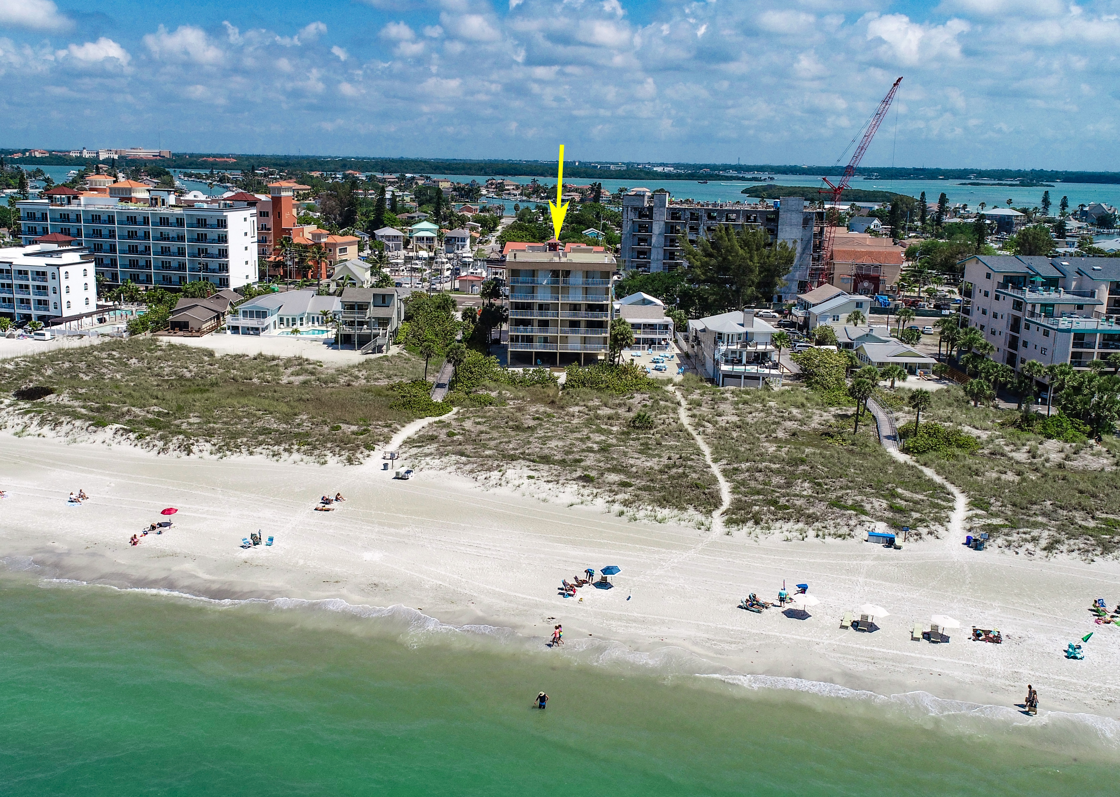 Aerial Image of Building and Beach