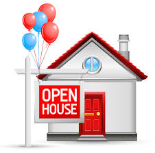 Open House with balloons
