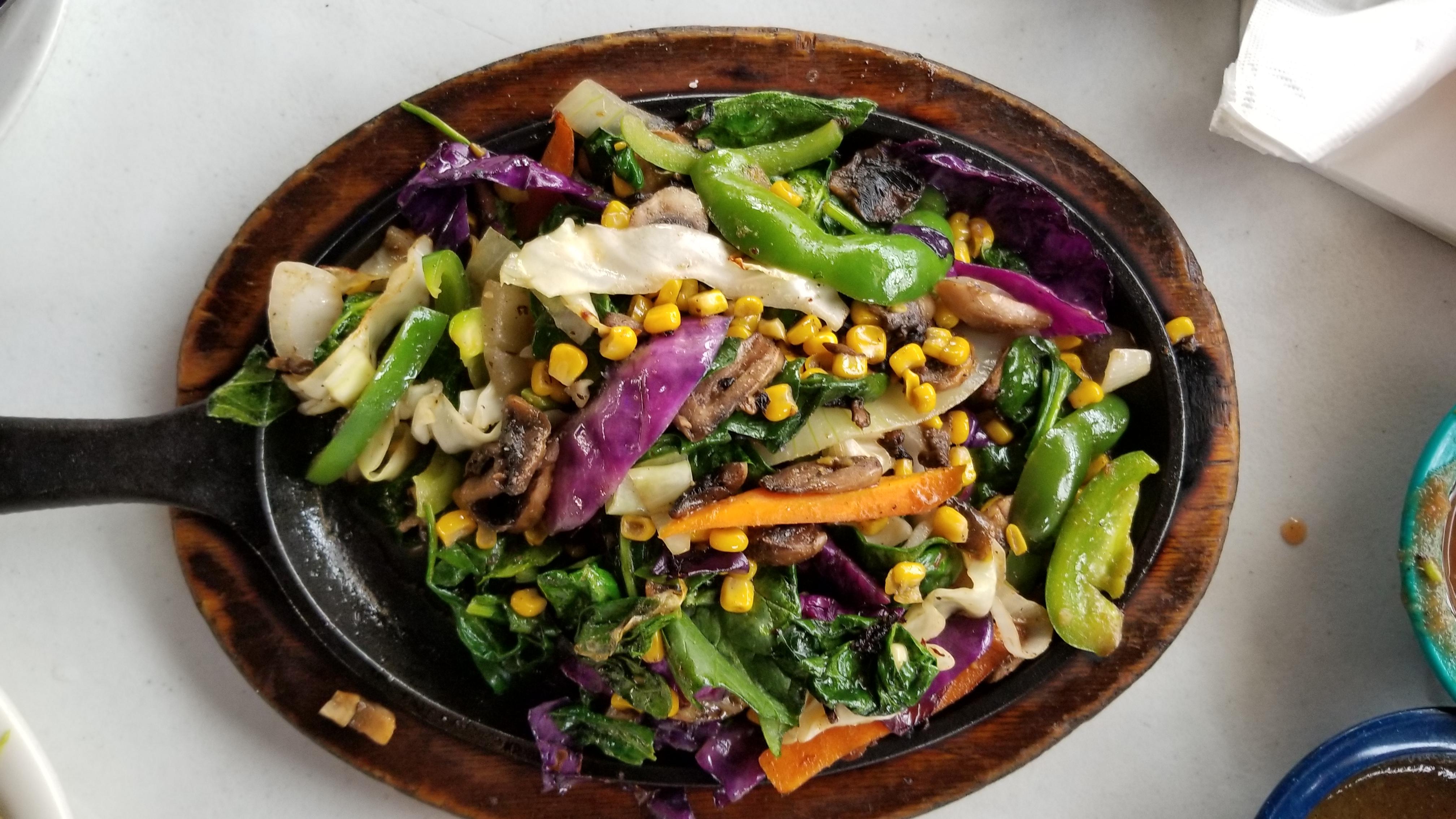 Sizzling Veggie Fajitas