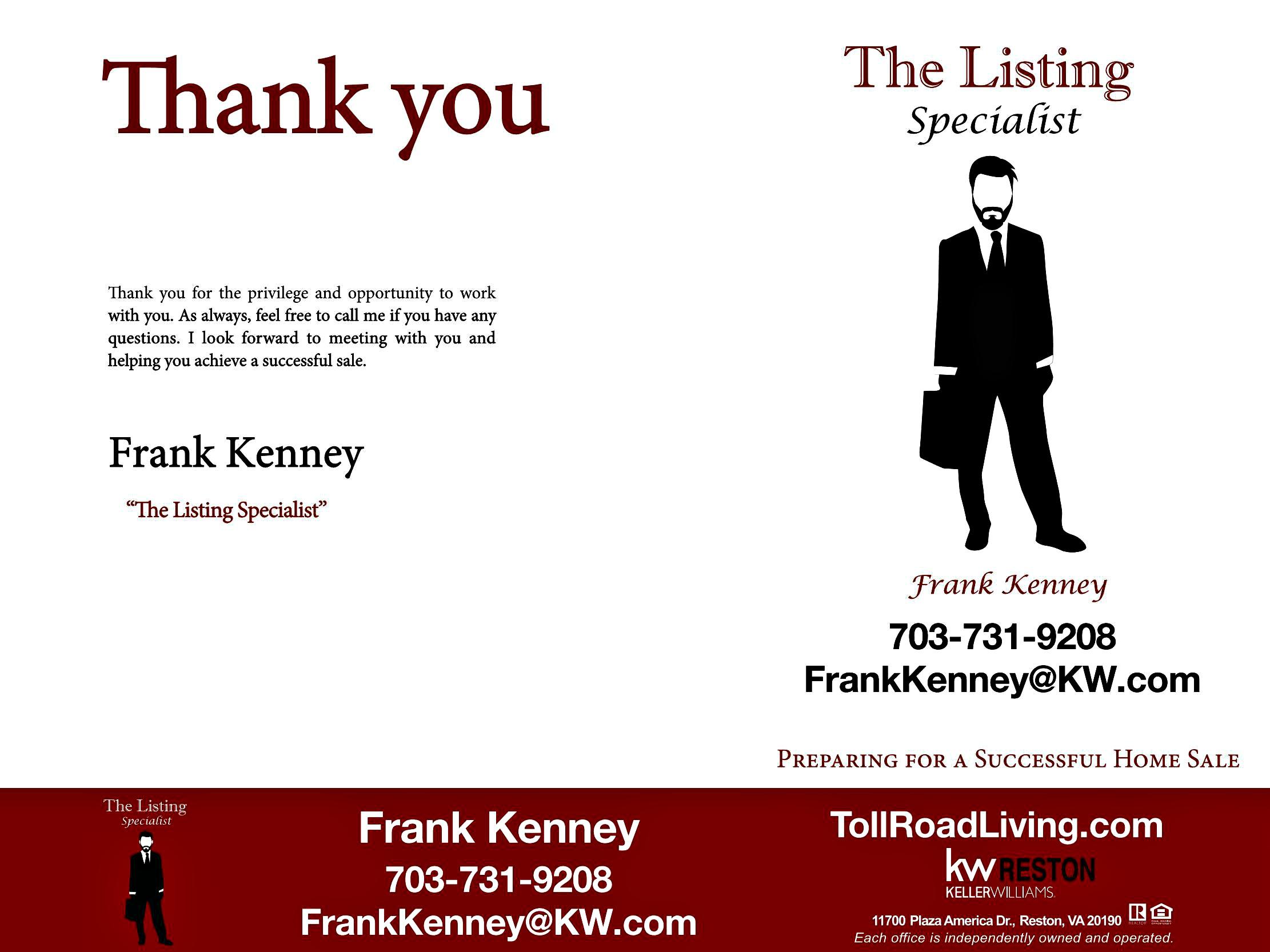 Home Listing Specialist Frank Kenney Keller Williams Realty Reston Virginia