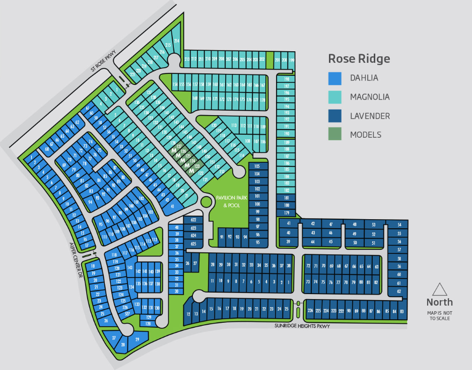 new home lennar builder rose ridge community in henderson