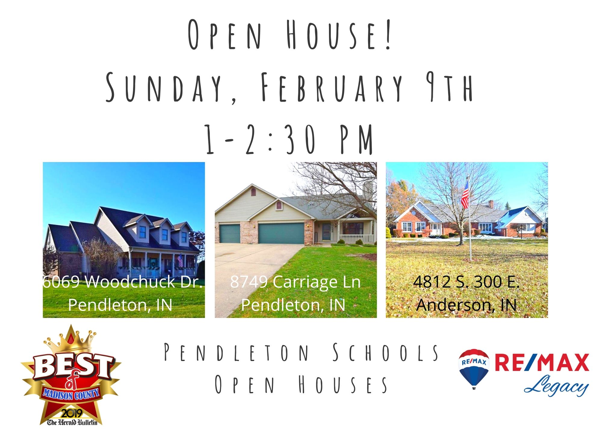 RE/MAX Legacy Pendleton School Open House