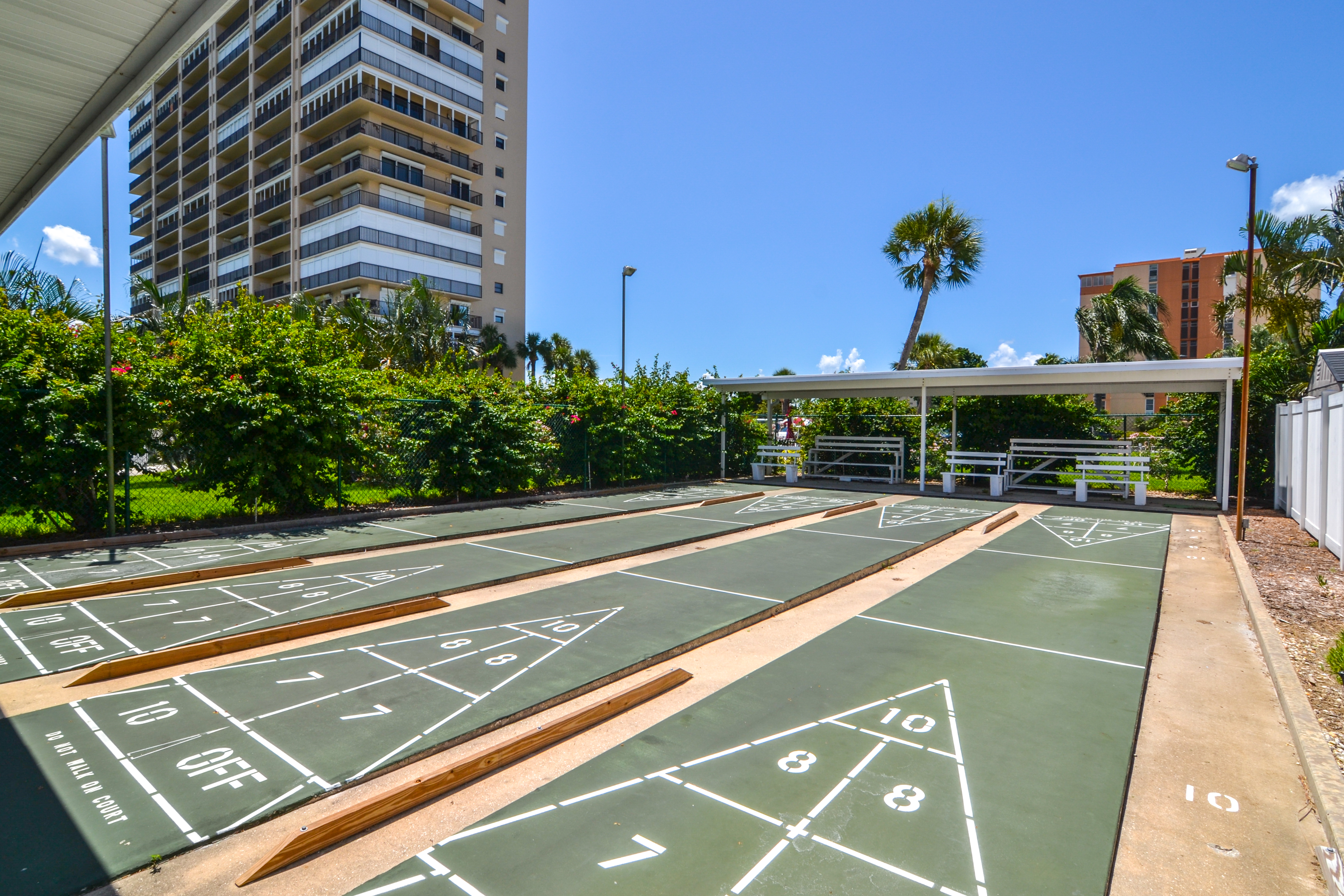 Shuffleboard at Bay Island