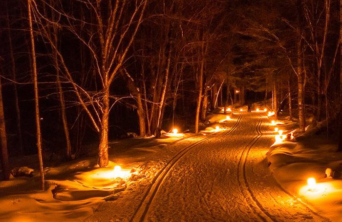 Quarry Hill Rochester MN cross country ski by candlelight