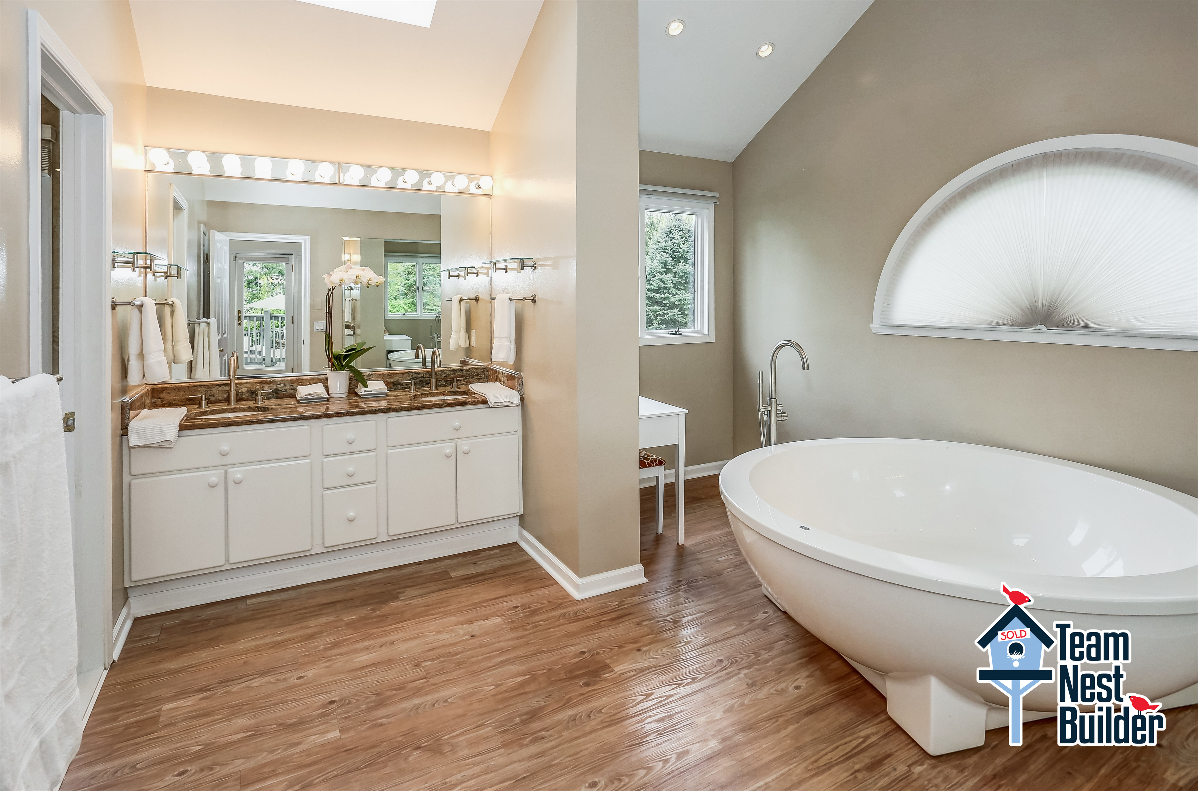 Fabulous newly-remodeled master bathroom