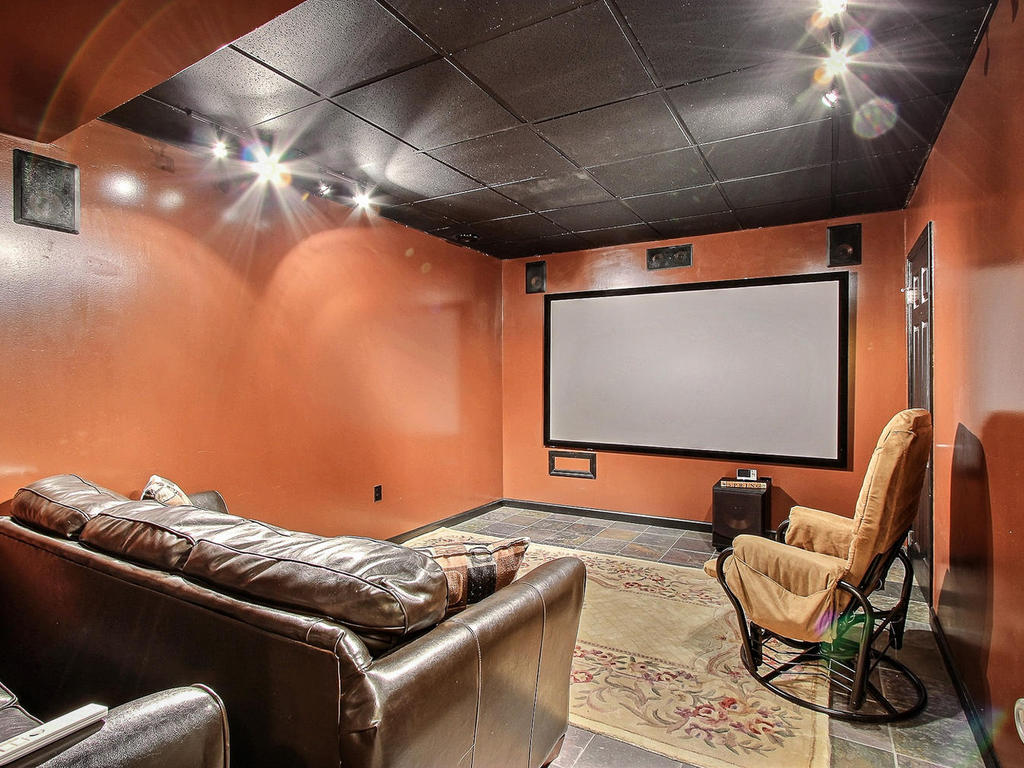 Theater room with projection screen!