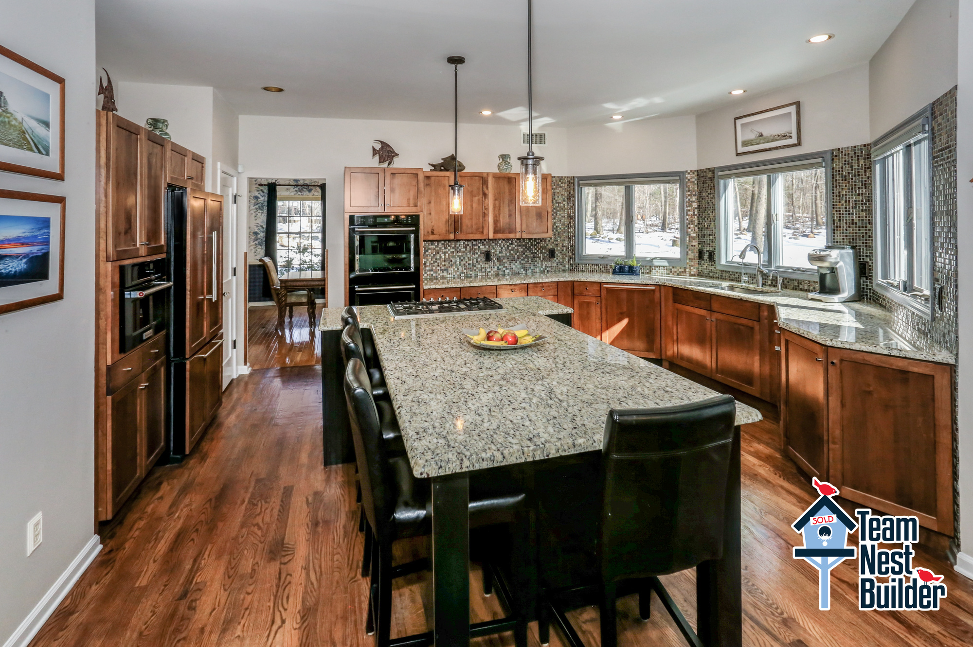 Gather with friends and family in the huge kitchen!