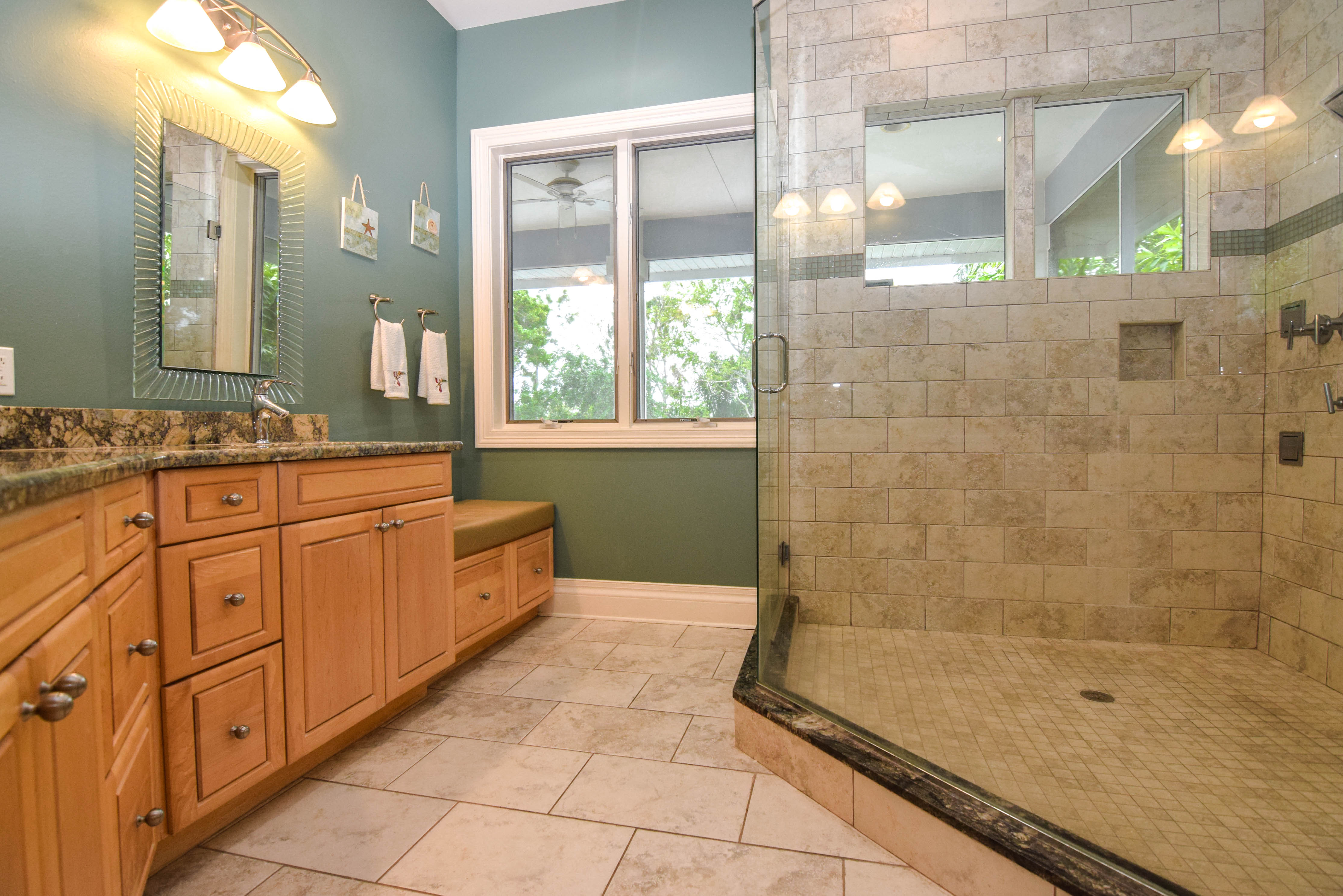 Large Master Bath with Shower System