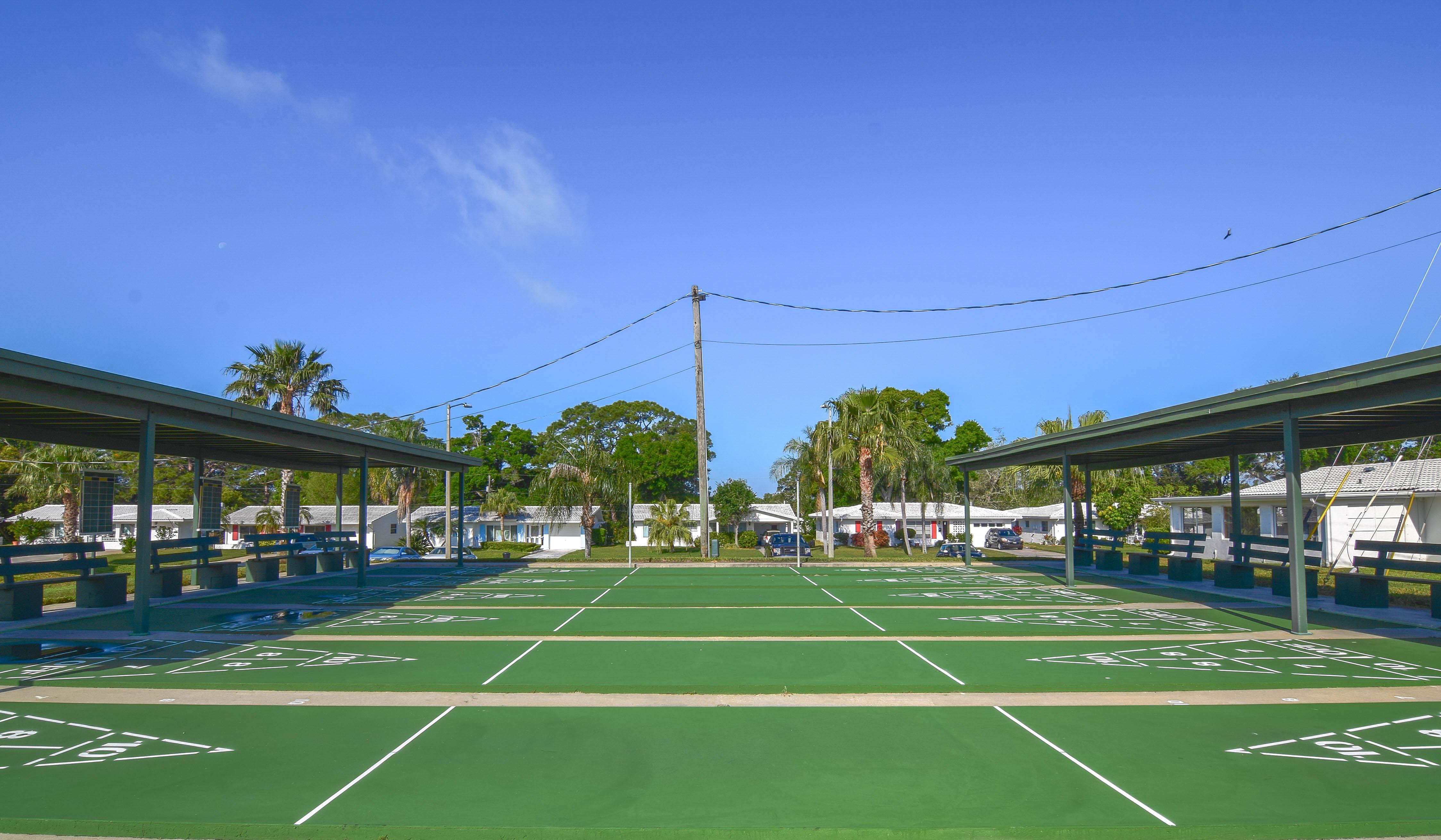 Shuffleboard Courts at Tamarac by the Gulf