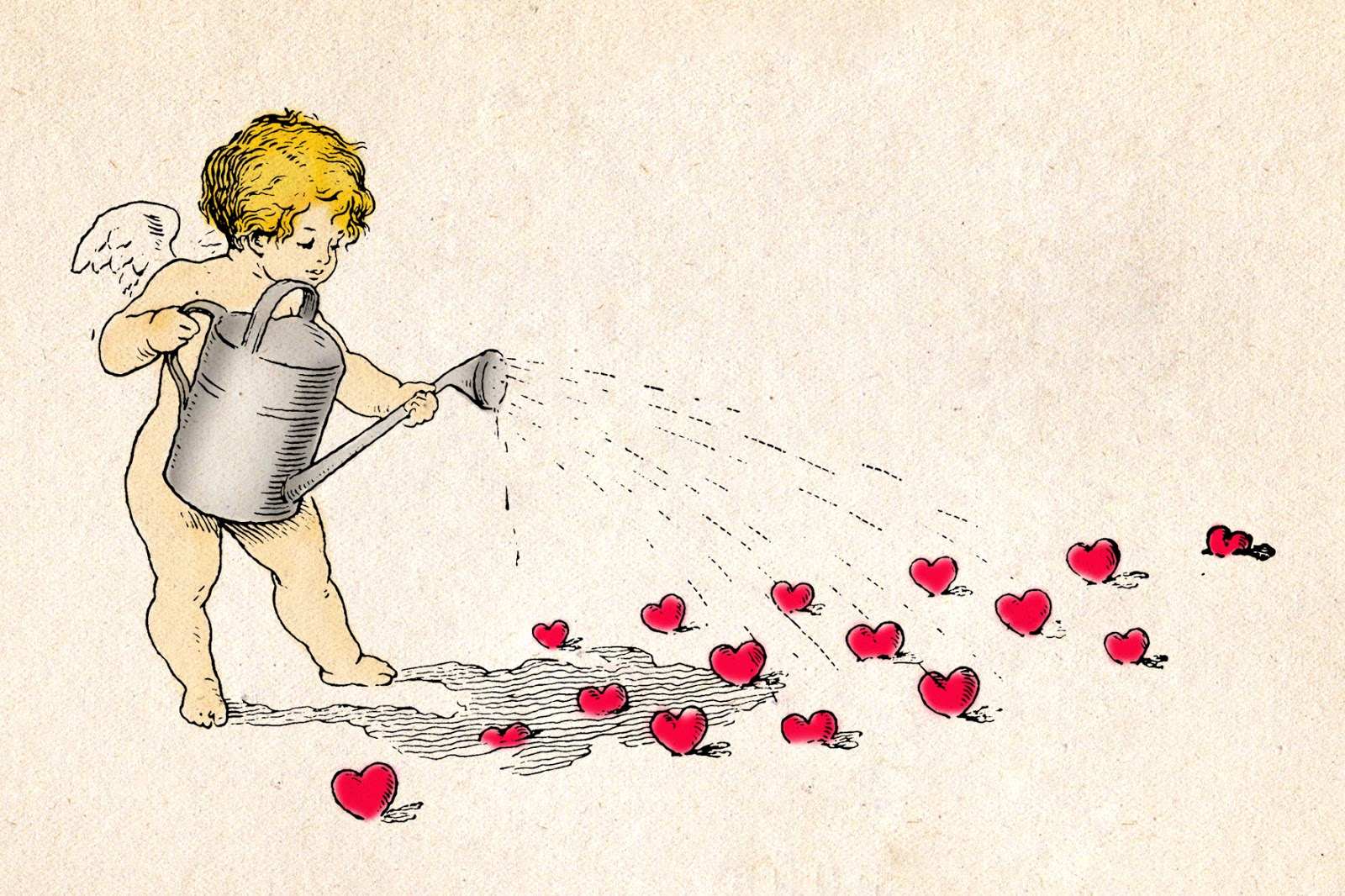 Vintage cherubs for DIY Valentine's Day cards
