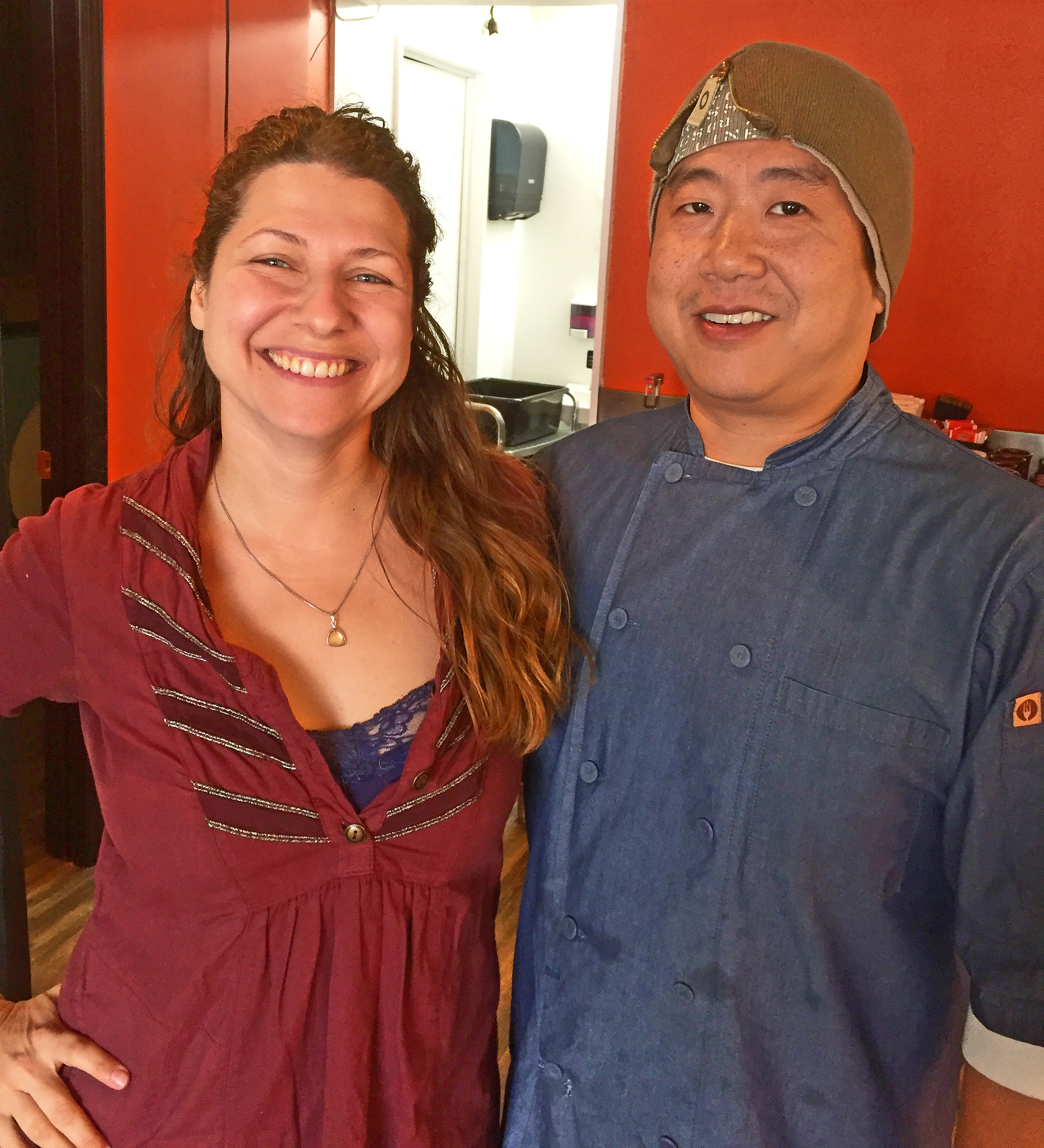 Foo Kitchen owner George Pan and his manager and hostess, Naomi.