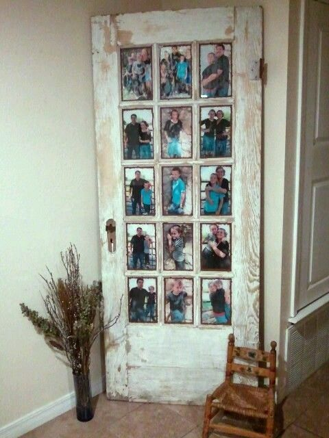 Collage Picture Frame from Salvaged Door