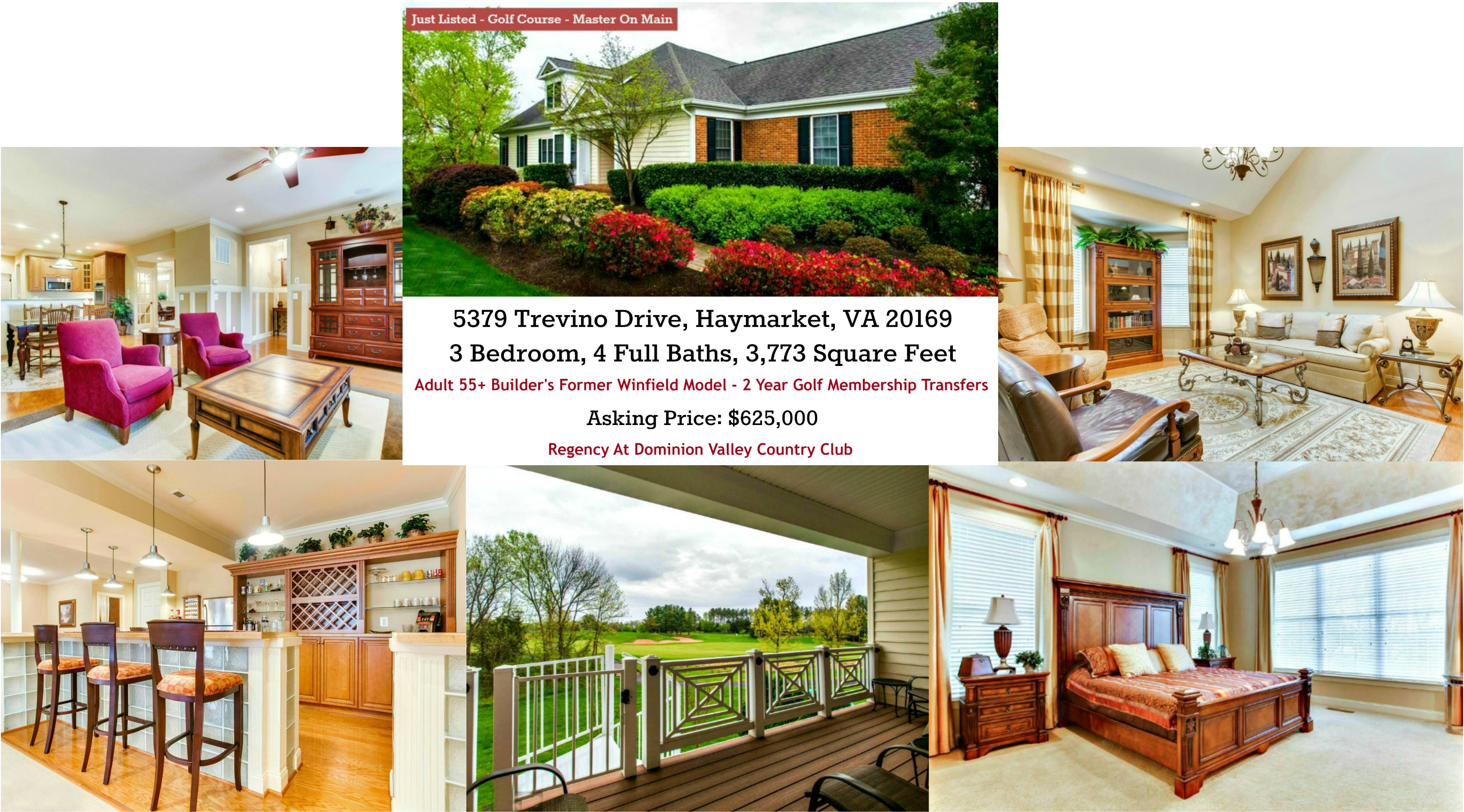 Regency at Dominion Valley Country Club For Sale 55+ Community in Haymarket, VA