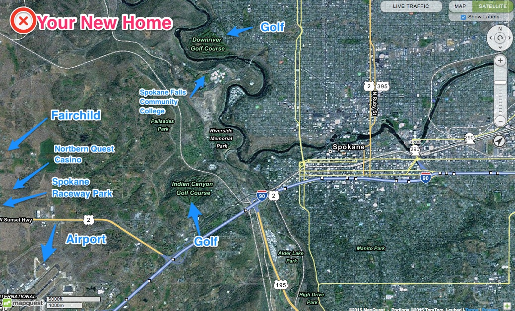3210 N Old Trails Rd Spokane WA 99224 Lifestyle Map