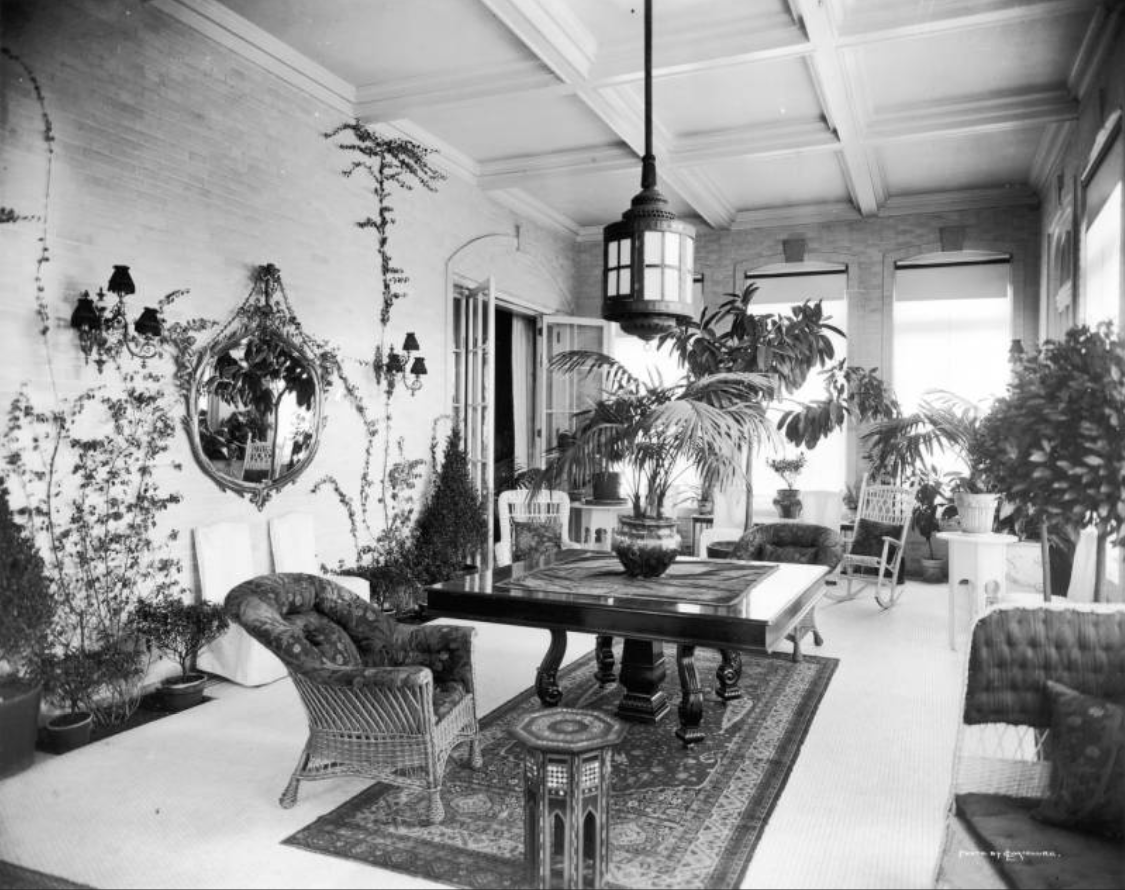 Sun room, Crawford Hill house [between 1910 and 1920]