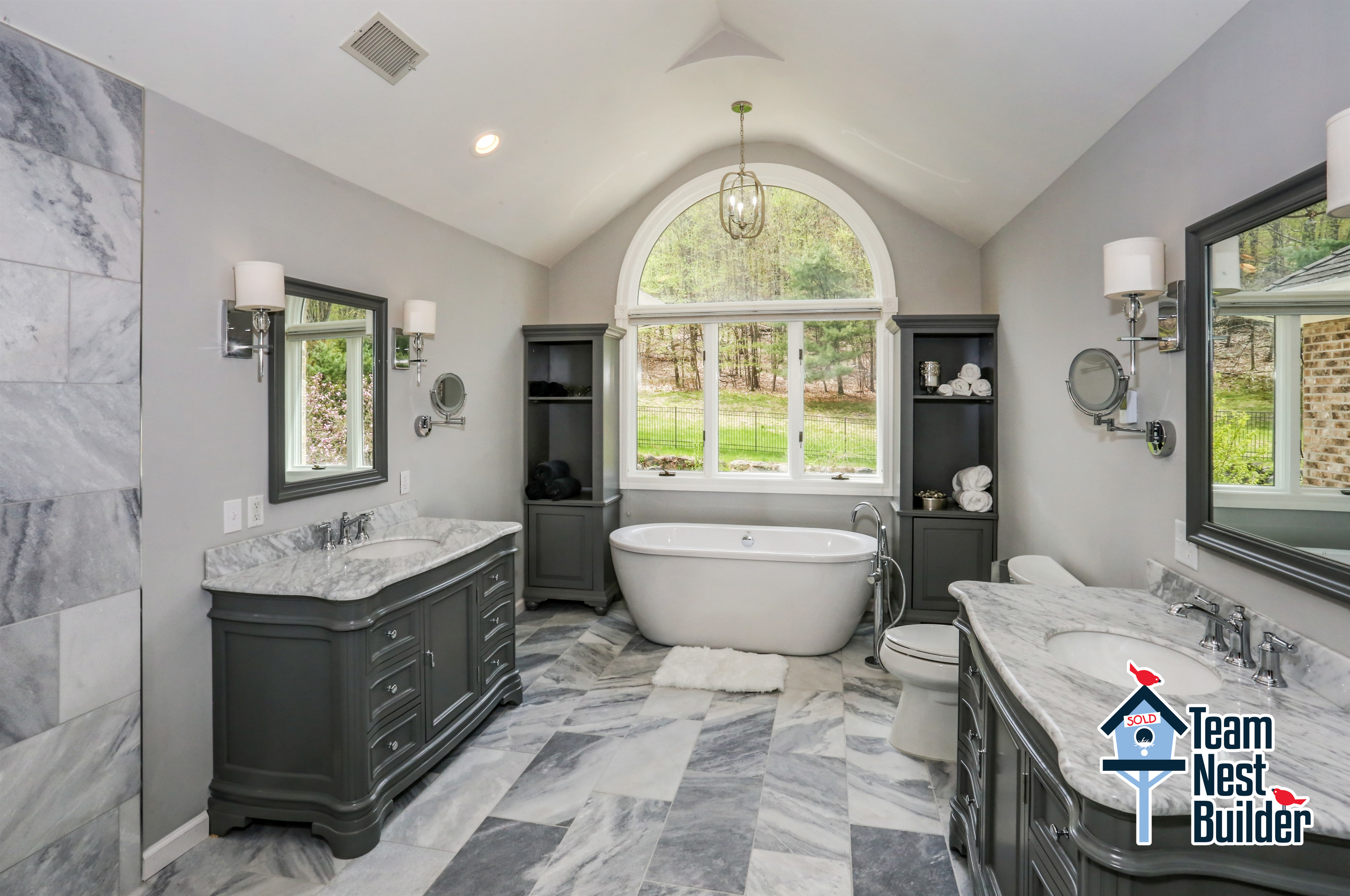 Completely renovated luxury master bathroom