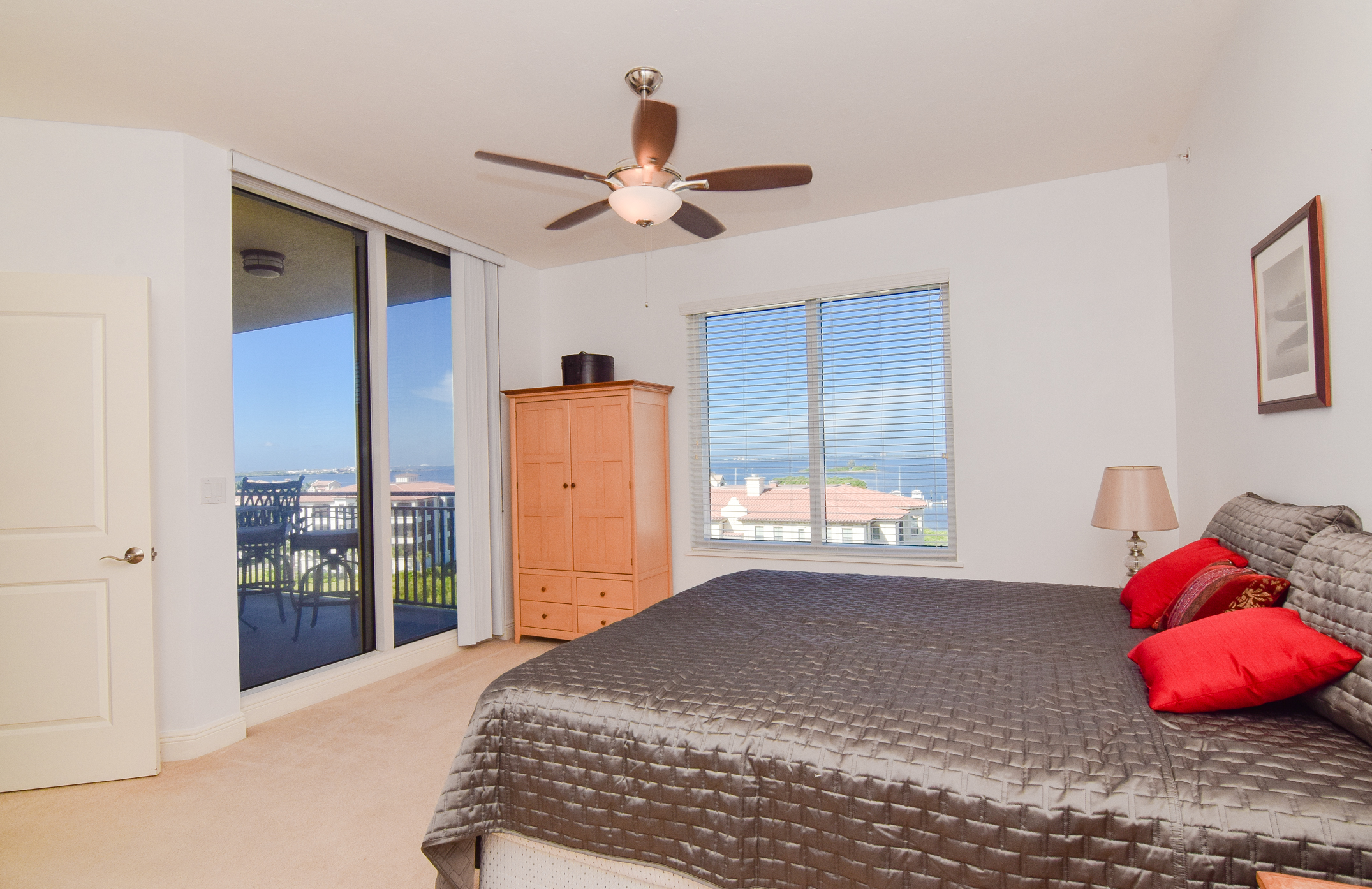 Water View Master Bedroom with Balcony Access