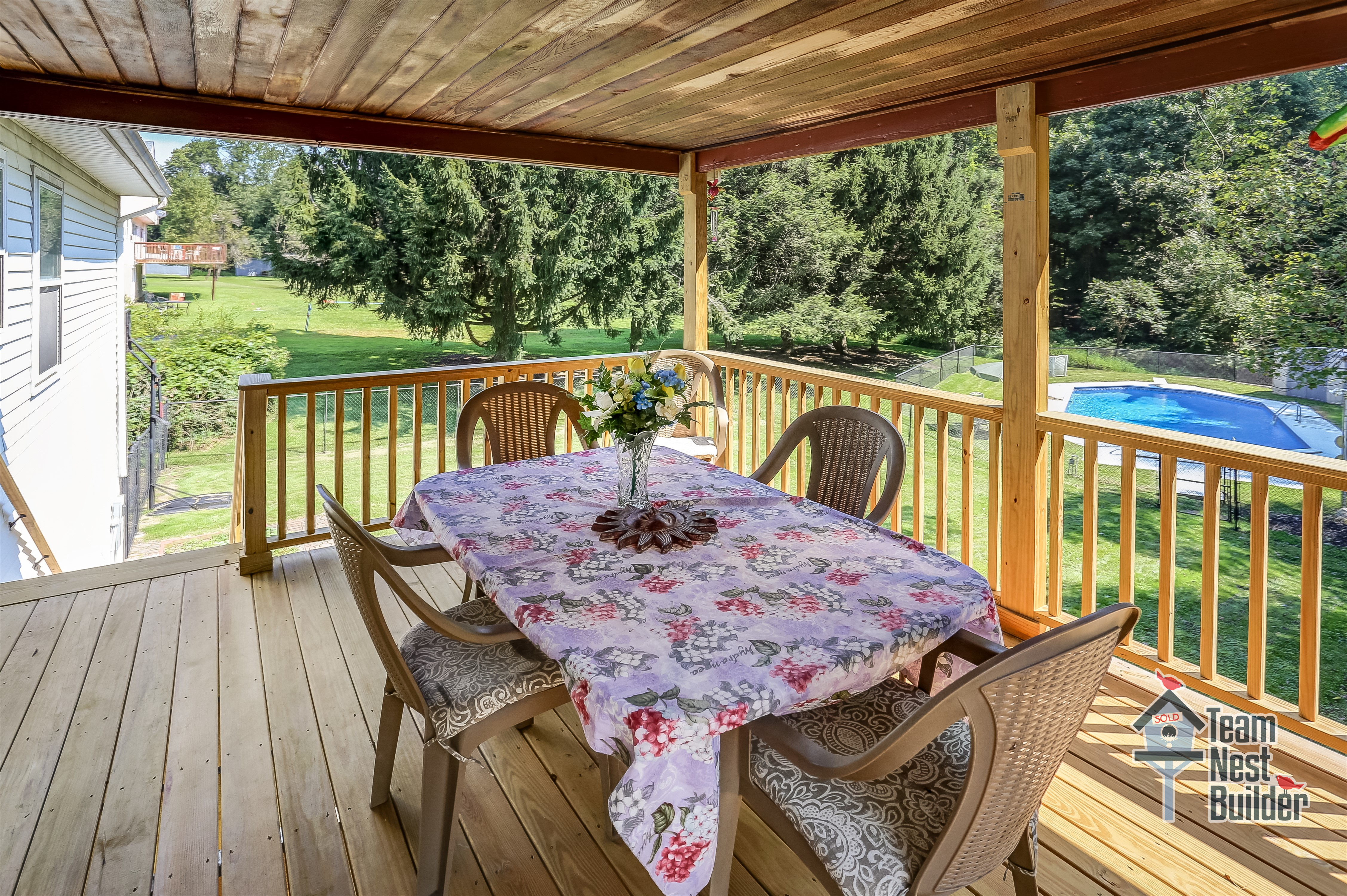 Dine and entertain on the covered deck