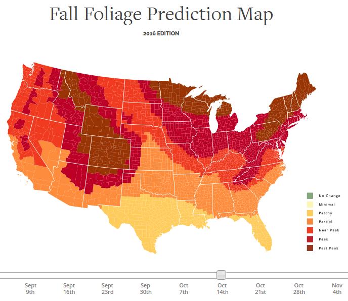 Fall Foliage map NJ
