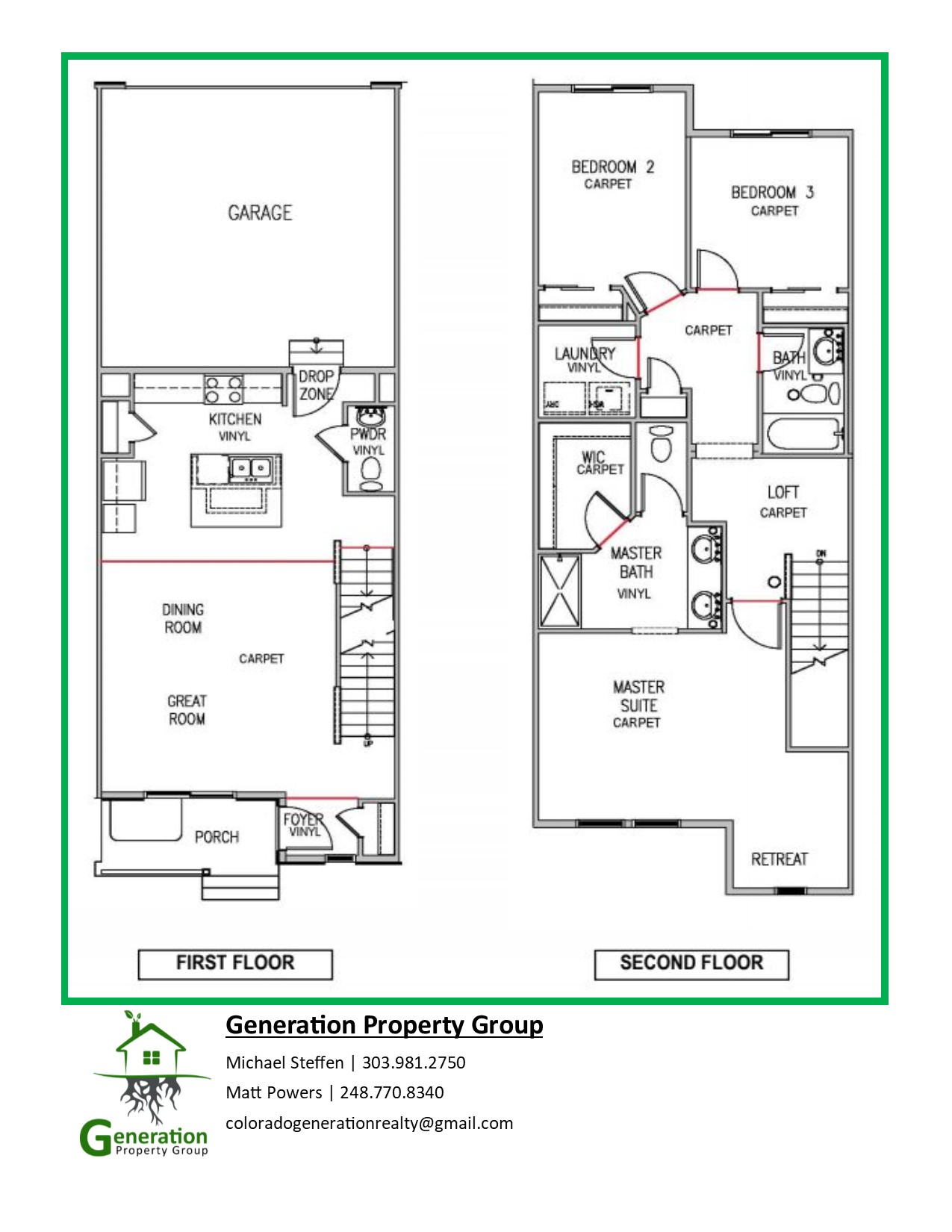 Oakwood townhomes floor plans 1