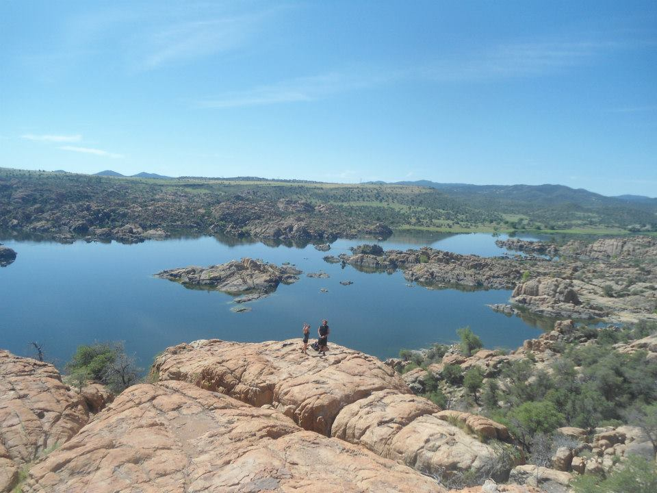 Climbers setting up at Watson Lake, Prescott AZ - Photo by B. Miller