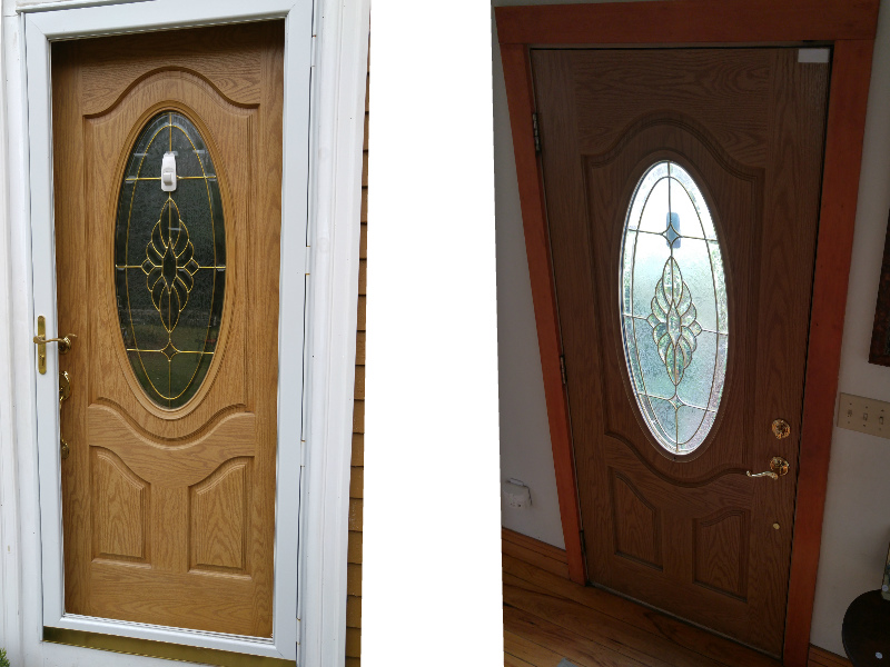 Front door inside and outside