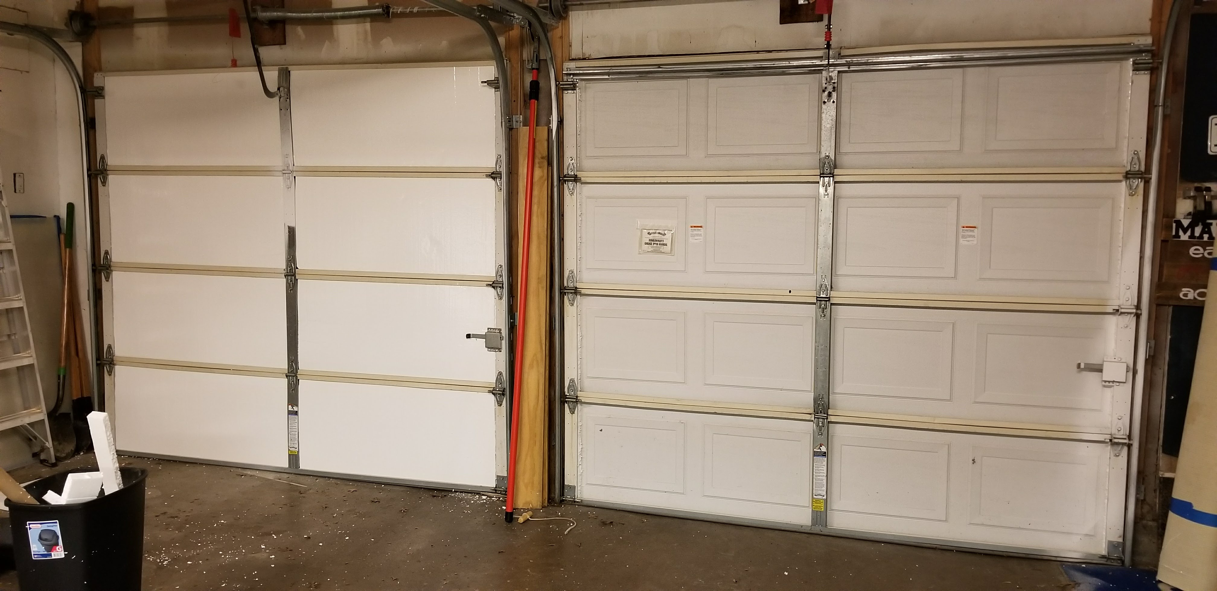 doors full custom insulation ca large orange door garage of replacement panels size