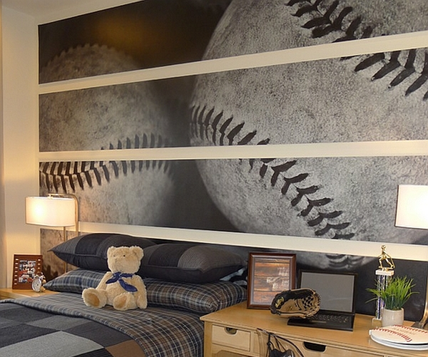 Baseball Wall Mural - Lisa Birdsong