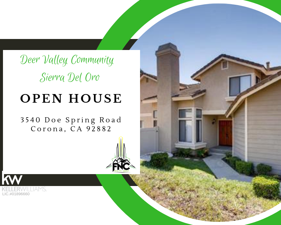 3540 Doe Spring Road Corona Open House
