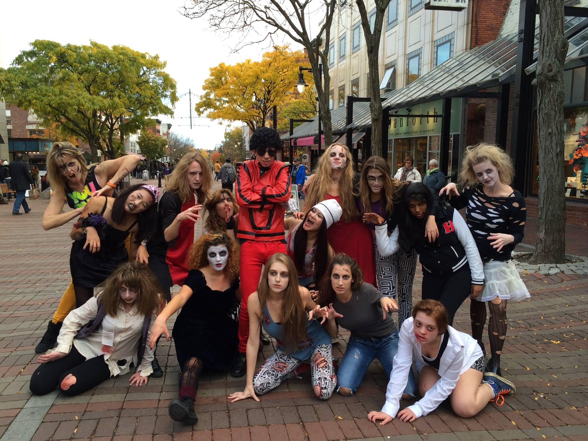 Josh & His Dance Troupe, Thriller Flash Mob, Church Street, Burlington, VT 2014