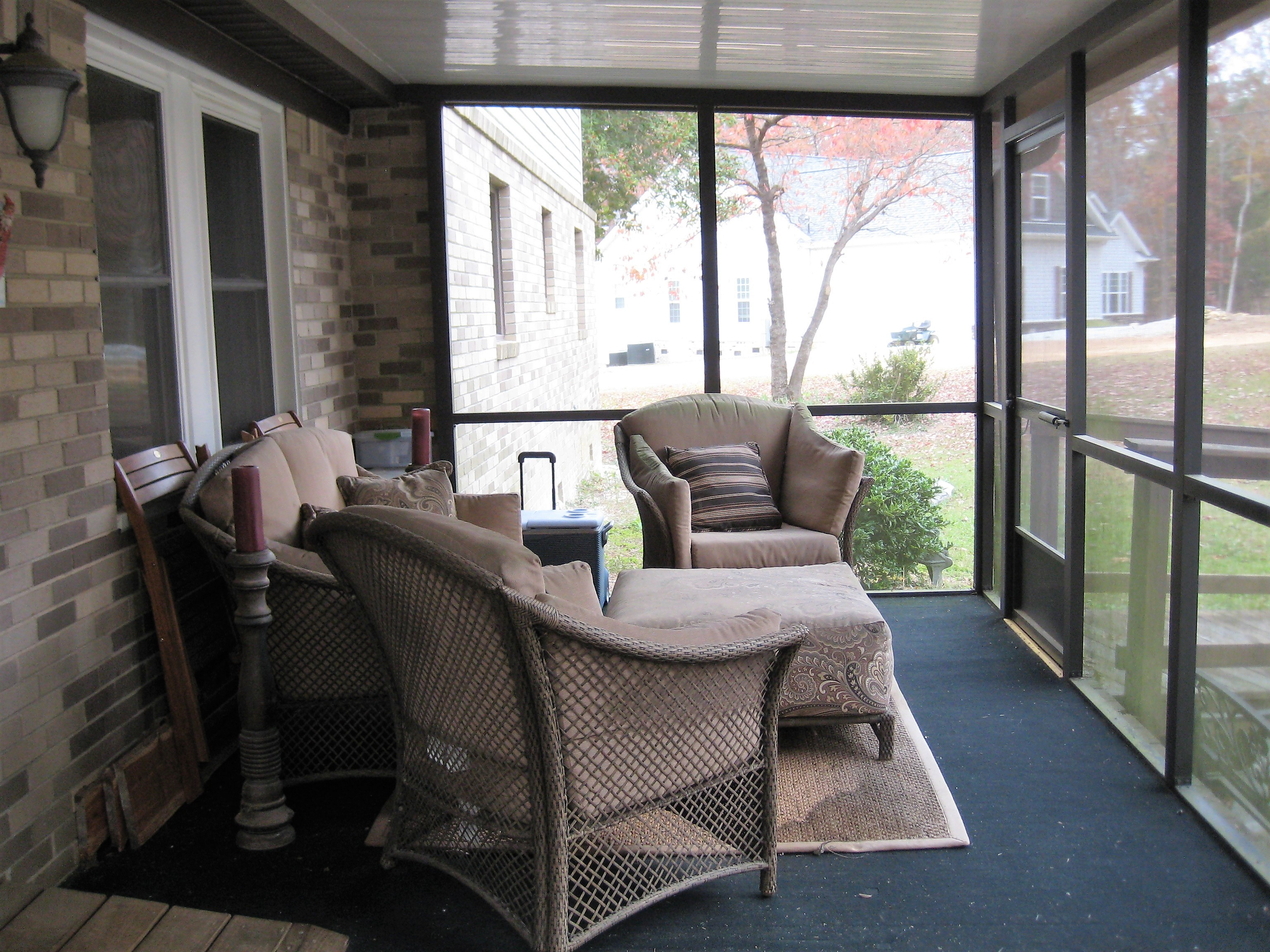 Keep the BUGS out in this screened porch