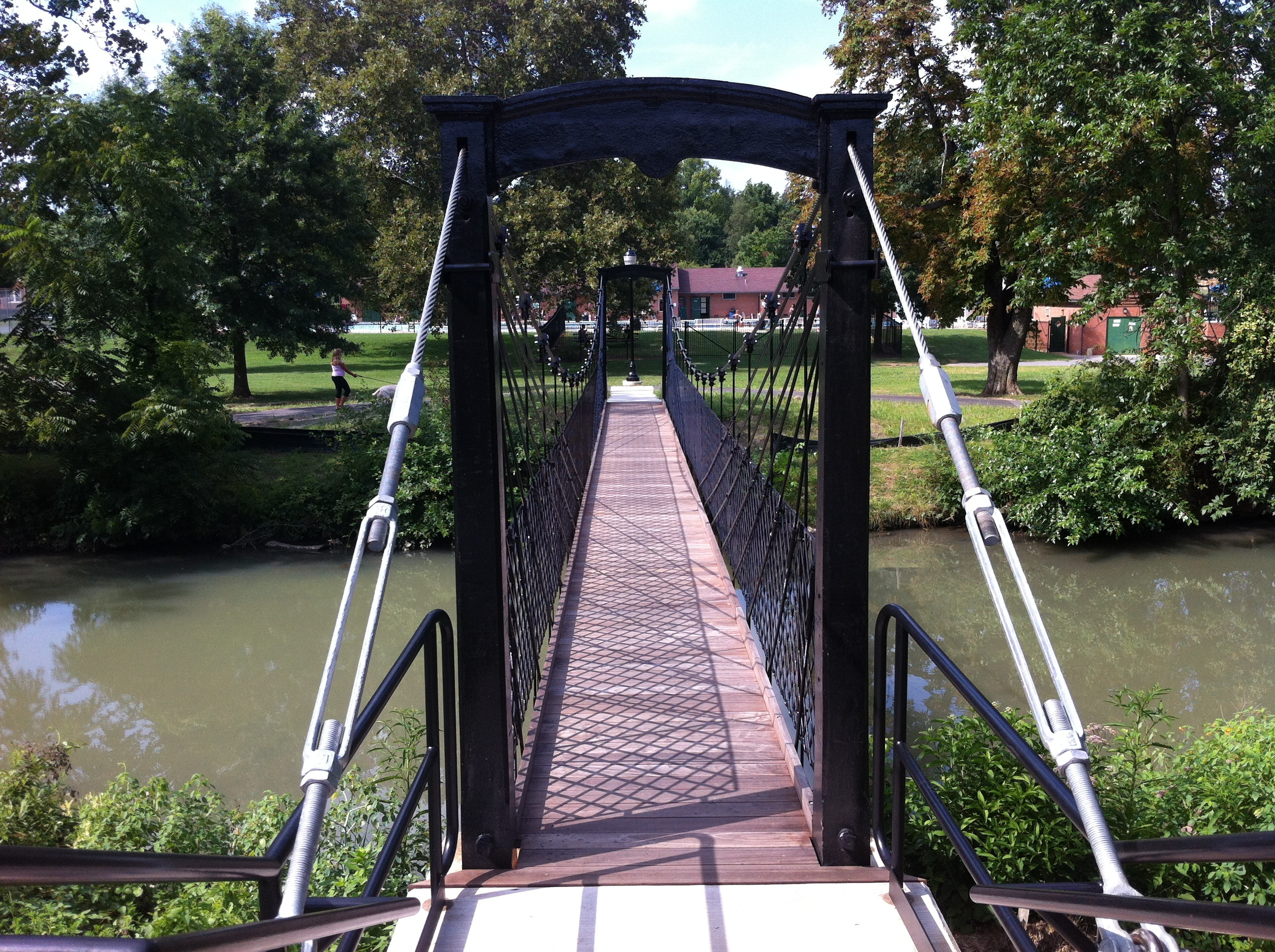 Walking Bridge in Baker Park