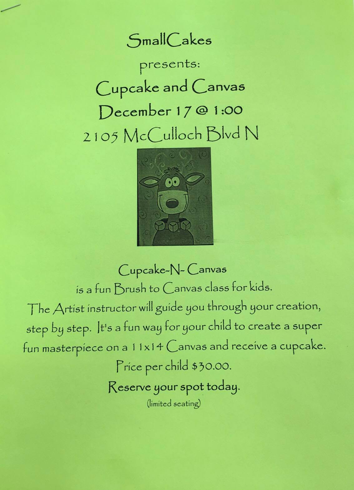 Cupcakes and canvas!
