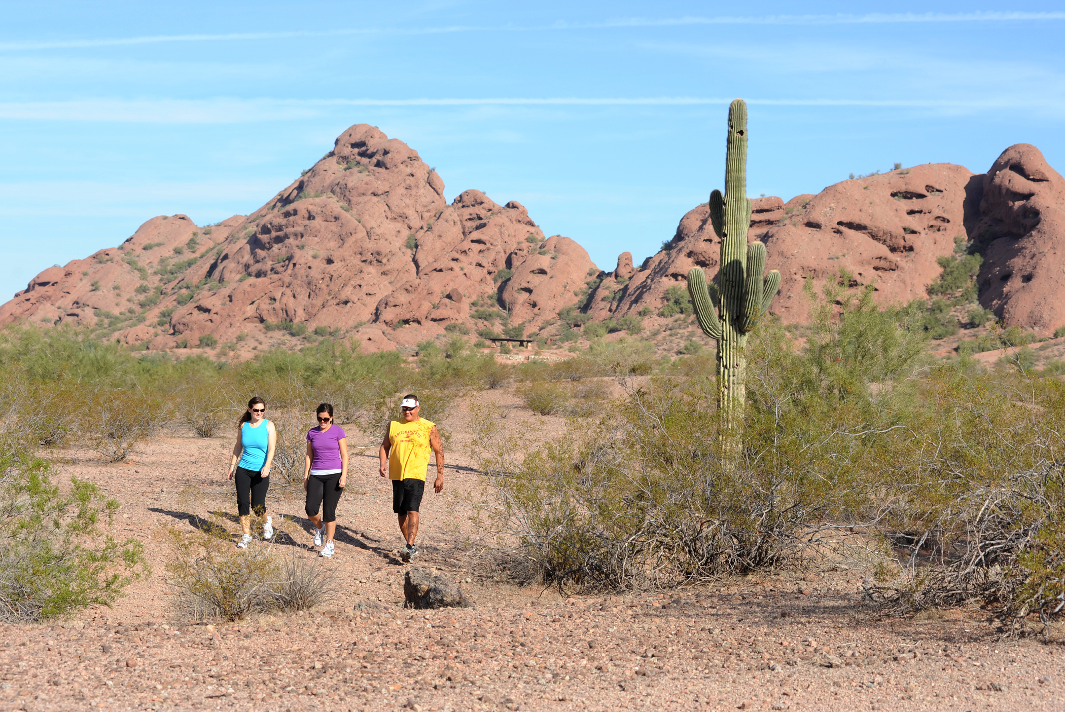 Hikers in Papago Park
