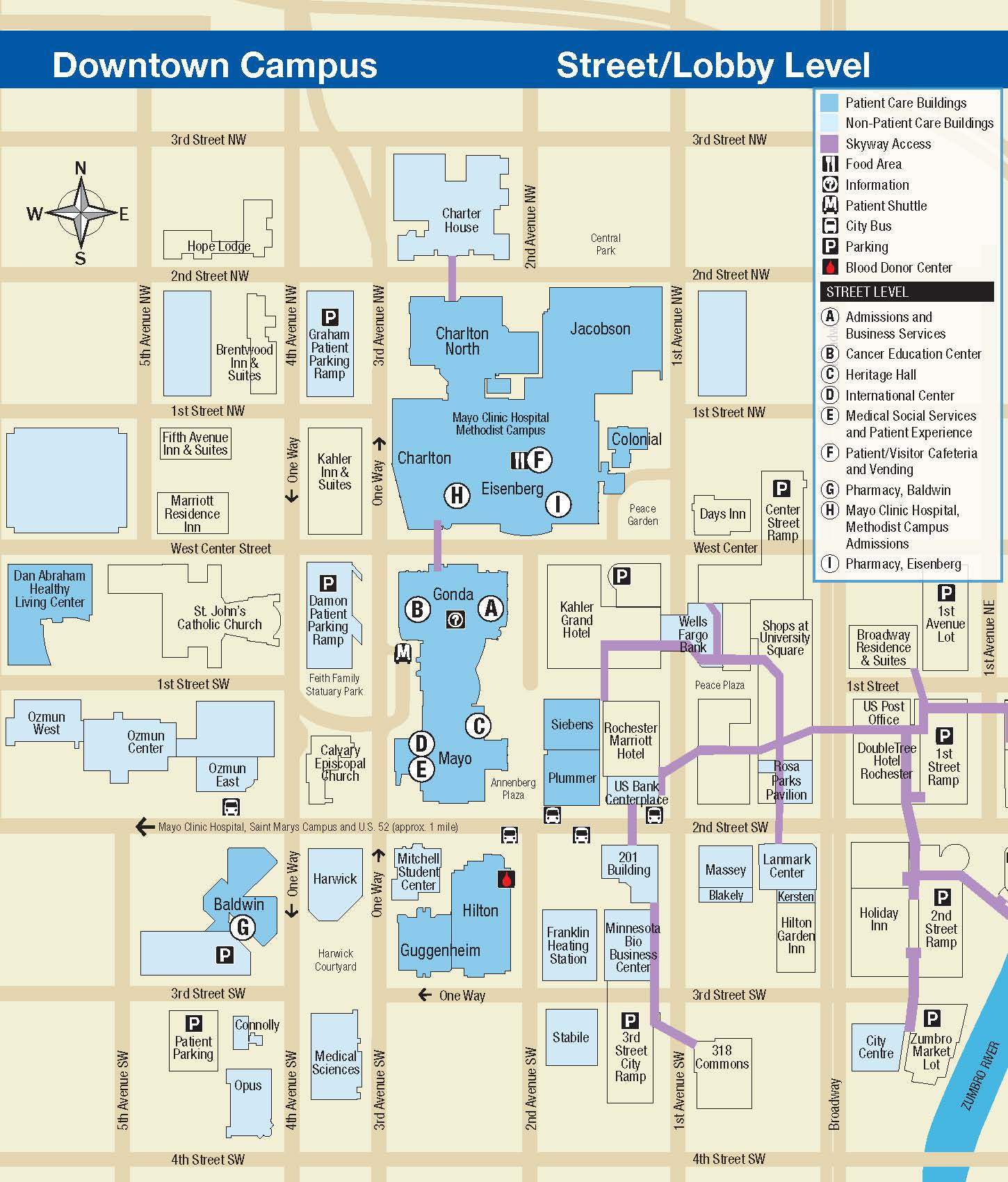 Mayo Clinic Campus Map Match Day 2019 Rochester MN